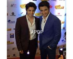 with his brother at the premier of in karachi.