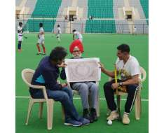 met the living hockey legend mr. who was part of the winning team that brought home the first prestigious gold for india back in 1948 along with such an inspiration of a man with even more inspiring stories.