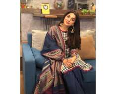 looks super cute in this beautiful outfit today during promotion of .