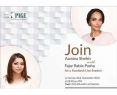 lets keep talking about girls education. would like to update you on pages on-ground developments, and how each one of you can be an ambassador of change this sunday 23rd september at 830pm pst on facebook live. . . . . . . www.page.org.pk