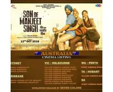 here is the cinema listing in australia for son of manjeet singh ..