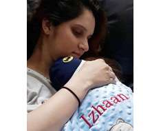 sania mirza with her new born baby .