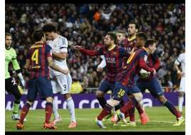 El Clasico - Real Madrid vs Barcelona (Fights, Fouls, Red Cards)