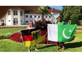 German girl's message to Pakistan on independence day