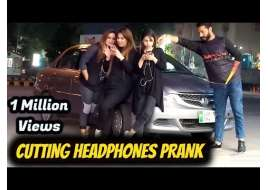Cutting Peoples Headphones Prank in Pakistan