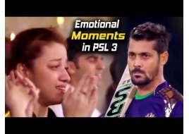 Emotional Moments in PSL 3 | Peshawar Zalmi VS Quetta Gladiators