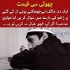 Kids Urdu Story: Choti Si Qeemat, Ek Din Akif Ne Jhijakte Huwe Unke Gale Per...