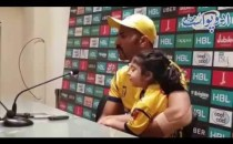 Wahab Riaz with his cute Daughter at the end of Eliminator 1 Against Quetta Gladiators - PSL 3