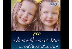 Kids Urdu Story: Zid Ka Natija, Minal Mein Ek Shadeed Buri Adat Thi K Wo Bari Ziddi Thi...