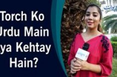 Parsa Qamar   Interesting Question   Torch Ko Urdu Main Kya Kehtay Hain?