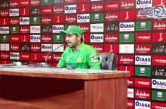 Srilanka t 20 series. Pakistani captain Sarfraz Ahmed ki media se guftagu