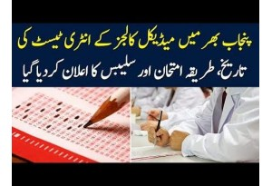 MBBS, BDS Medical Entry Tests 2019 In Punjab   Dates,Syllabus, Method Of Examination Rules Announced