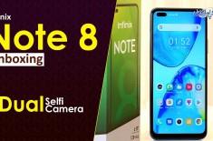 Infinix Ne Dual Selfi Camera Or 4 Back Camera Ke Sath Infinix Note 8 Launch Kar Dia - Watch Unboxing
