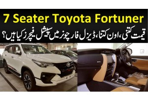 7 Seater Toyota Fortuner - Qimat Kitni, Own Kitna, Diesel Fortuner Mein Special Features Kya Hain?