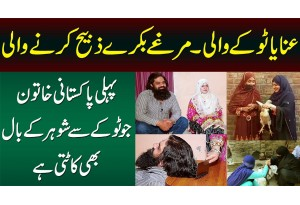 Anaya Tokay Wali - 1st Pakistani Aurat Jo Janwar Zibah Karti Or Tokay Se Shohar Ke Baal Kat'ti Hai