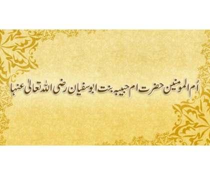 Ummul Mumineen Hazrat Um E Habiba Binnat Abu Sufyan Razi Allah Taala Anha