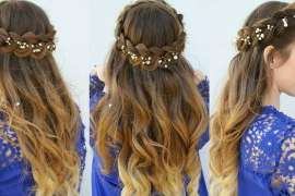 Crown Braid Hair Style
