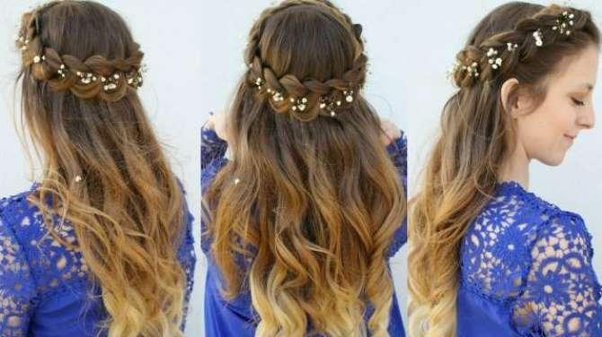 Crown Braid Hair Style